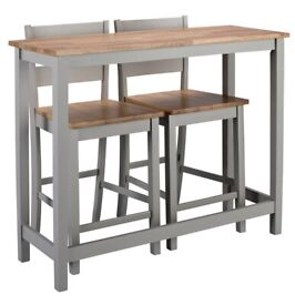 Argos Chicago grey and wood two tone breakfast bar table and chair set
