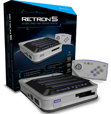 Hyperkin RetroN 5 Retro Video Gaming System Console - Gray Brand new