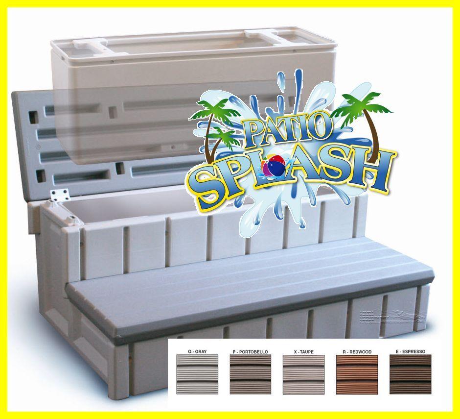 Spa Step Storage Step Hot Tub Step Premium Quality Rv Steps By Confer Plastics
