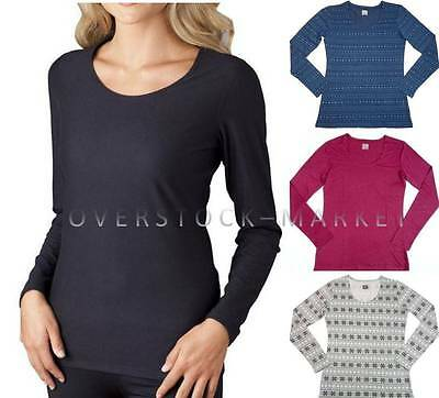 New Women Weatherproof 32 Degrees Heat Long Sleeve Scoop Neck Base Layer Variety
