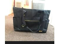 Skip Hop Black Two In One Downtown Chic Diaper Tote Changing Bag