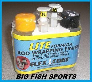 FLEX COAT LITE BUILD ROD WRAPPING FINISH 2 oz KIT W/SYRINGES #F2SL FREE USA SHIP