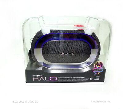 Halo Bluetooth (Creative Halo Tragbarer Bluetooth-Lautsprecher mit Lichtshow schwarz)