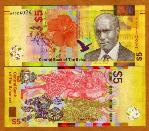 Bahamas, 5 dollars, 2020, P-New, UNC > redesigned, new family of banknotes