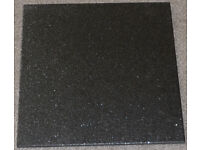 Black Porcelain Textured Surface Glitter/Sparkle Floor/Wall Tiles Made in Italy.
