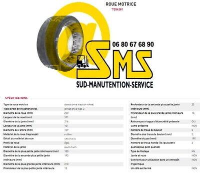 Wheel Cogs Rubber Pramac Lifter Lx1616 250 3 3132in Pallet Truck Stacker Truck