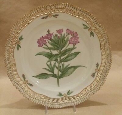 """Antique Royal Copenhagen Flora Danica Reticulated 10"""" Epilobium hirsutum L."""