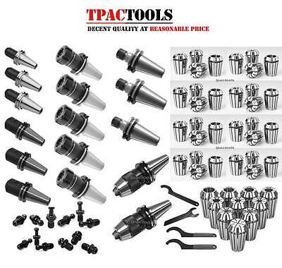 Cat40 Tooling Package Fit Mazak Er32 Er16 Collet End Mill Holder Drill Chuck New