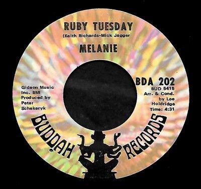 Melanie  Ruby Tuesday Merry Christmas  Buddah Bda 202  1970  45Rpm Single