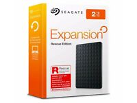Brand new & boxed - USB 3.0 - Seagate Expansion 2TB portable drive with 2 Year Rescue Service
