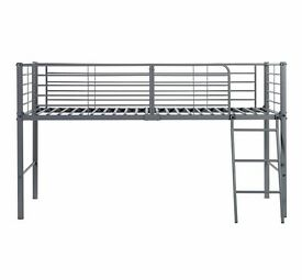 Silver Metal Cabin Bed (lots of under bed storage)