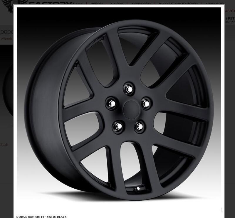 24 Inch Srt10 Dodge Ram Black Wheels Rims&tires Fit 5x139 5x5.5 Durango