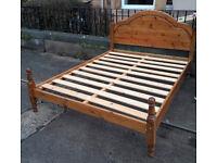Kingsize pine bed base for sale