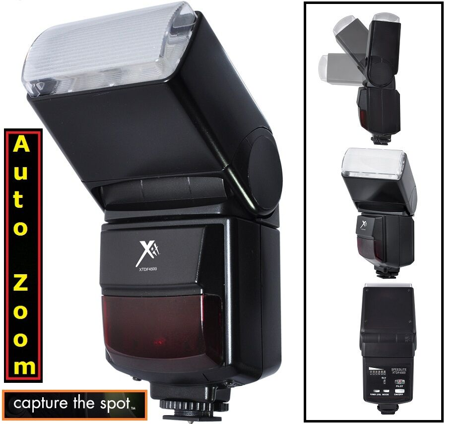 Automatic Zoom / Bounce Flash For Canon Eos Rebel Xt Xti ...
