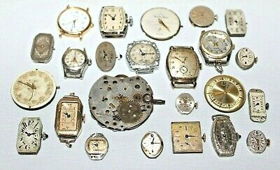Antique Watch Face Lot: Bulova,Menger,Awoners,Ibex,Olympic,Royal Geneva,More