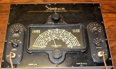 Estate Vintage 1946 Simpson Signal Generator Model 415 Untested As-is