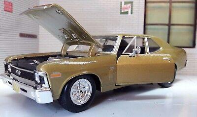 G LGB 1:24 Scale Diecast Very Detailed 1970 Chevrolet Chevy Nova SS Motormax