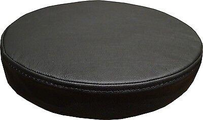 Runde Schwarz Sitzkissen Echt Lederkissen Sitzpolster Sessel Stuhle Bar Hocker  ()