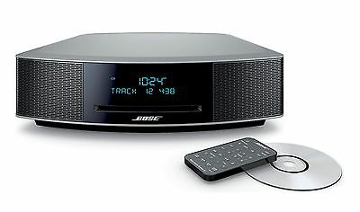 Bose Wave Music System IV w/ CD Player and AM/FM Radio- Platinum Silver - NEW!