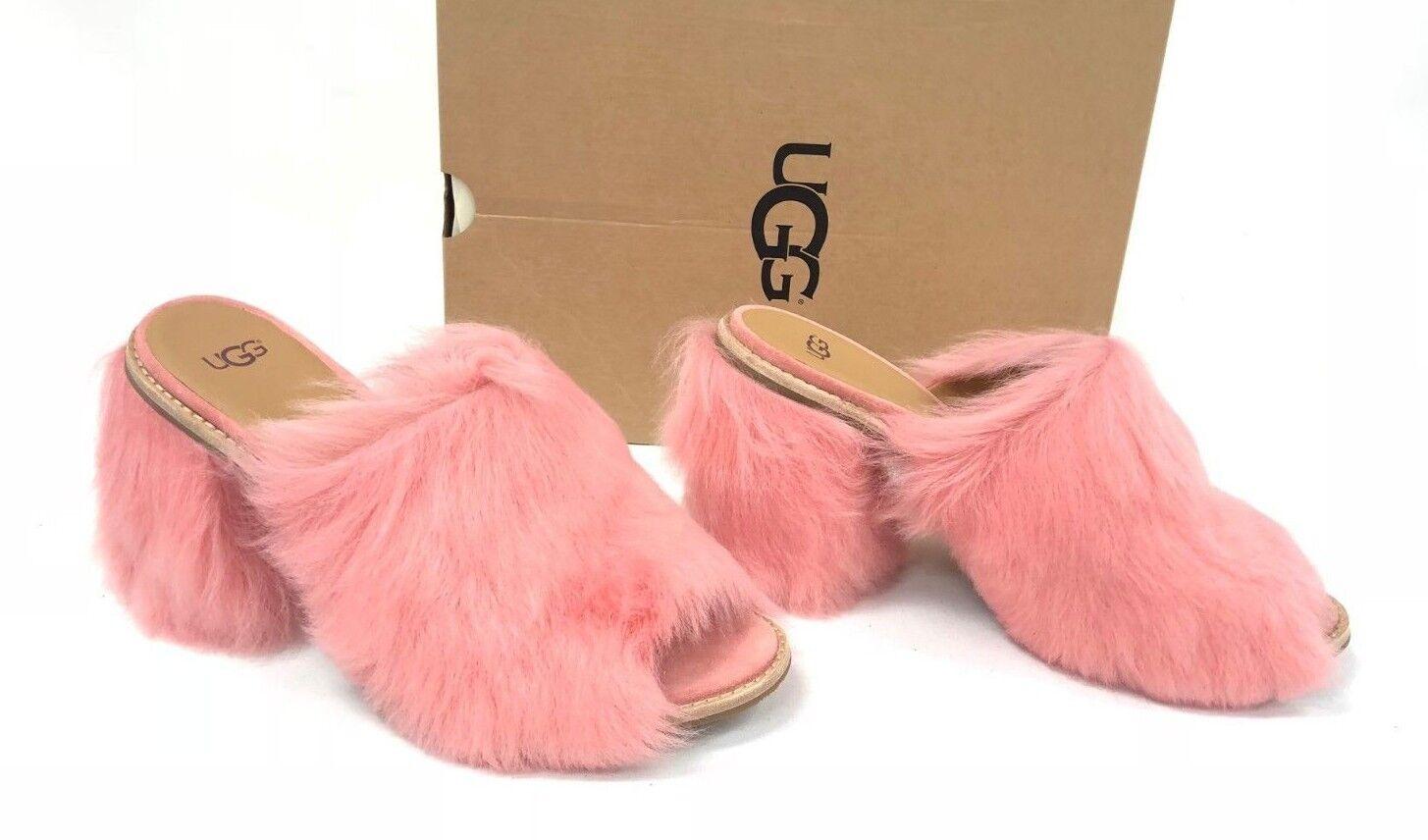 UGG Australia ROSA FLUFF Lantana Pink TOSCANA SHEEPSKIN HEELS WOMEN'S 1095390