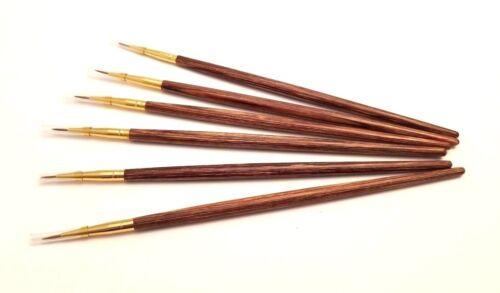 6-PACK Super Fine Thin Art Brush Precise Line Detailer Paintbrush