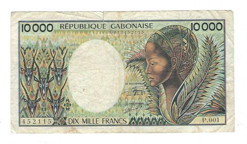 Gabon - 10,000  Francs, 1984