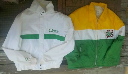 2 Vintage Quaker State Racing Jackets King Sports Outdoor Outfits Motor Oil LG