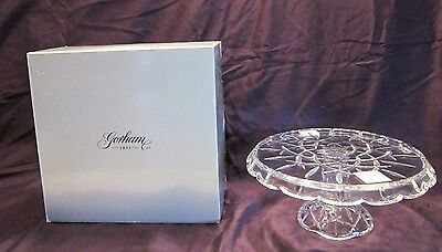 "Gorham 1831 Lady Anne Crystal 11"" Footed Cake Plate w/ Box  G50"