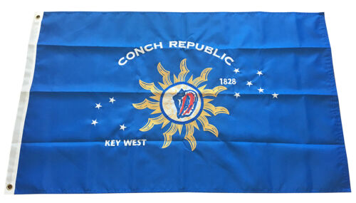 3x5 Ft Conch Republic Key West Flag Embroidered Nylon Flag Double Sided