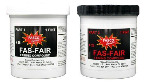 Fas-Fair #26 Epoxy Fairing Compound Quart Kit