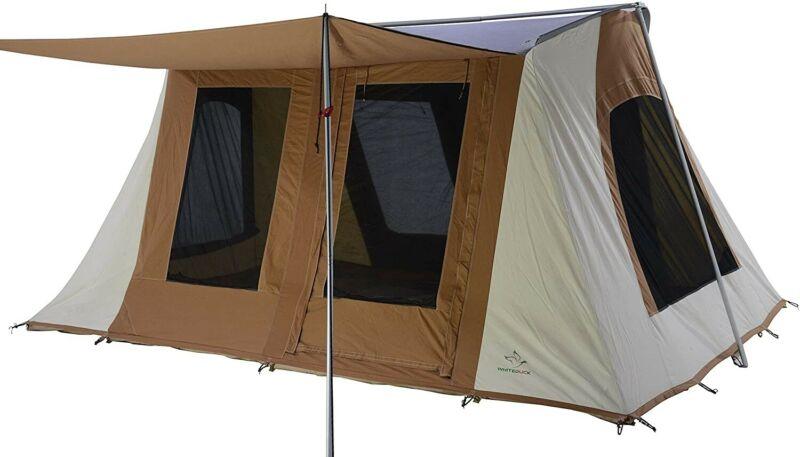 WHITEDUCK PROTA Deluxe Canvas Cabin Tent – Waterproof, 4 Season Outdoor Camping