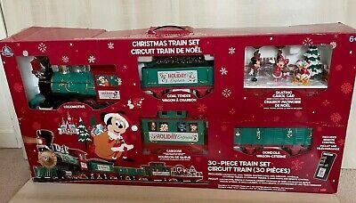 2020 Disney Parks Christmas Train 30 Piece Set Mickey & Friends Holiday Express