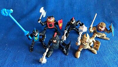 6 Vintage Fisher Price Great Adventures Castle Knights Lot Figures w/Kings +