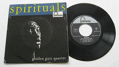 """7"""" Golden Gate Quartet - Spirituals - VG++ Fontana 462047 Shadrack"""