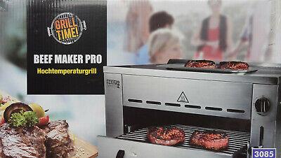 Pro Stein (Beef Maker PRO Hochtemperaturgrill Gasgrill Pizzastein Druckminderer Gasschlauch)