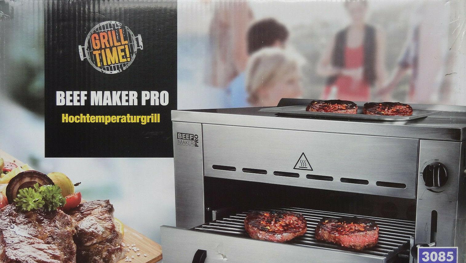 Beef Maker PRO Hochtemperaturgrill Gasgrill Pizzastein Druckminderer Gasschlauch