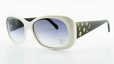 CHANEL Sonnenbrille 5123 c.1065/11 White Black Gold Deluxe Sunglasses No 5 c2008