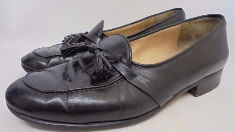 6dcac1017f8 Cole Haan Bragano Italy Siena black tassel loafers slip on Men s Shoes size 8  M