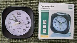 Quartz Travel Home Alarm Clock With Snooze and Light