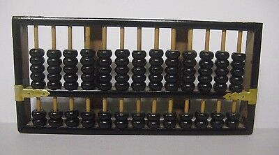 Vintage Lotus Flower Brand Abacus The People's Republic of China 91 Beads Wooden