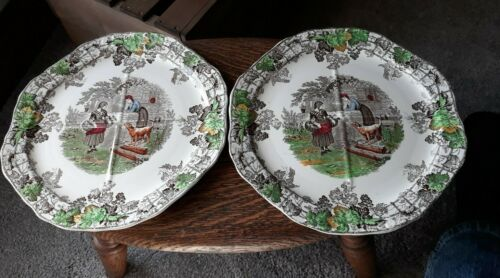 Vintage COPELAND SPODE BYRON SERIES NO 1 PLATES WITH QUATERLY Sections