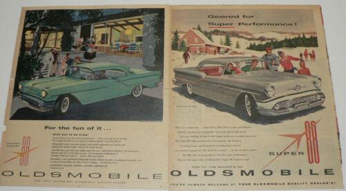 1957 Oldsmobile Holiday Super & Rocket Coupe Magazine Ads, Lot of 2