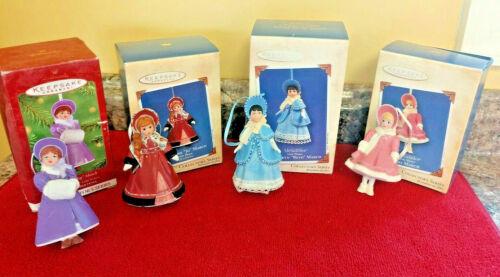 Hallmark Keepsake Ornaments-LITTLE WOMEN- Lot of 4-Beth, Meg, Amy, Jo March-Mint