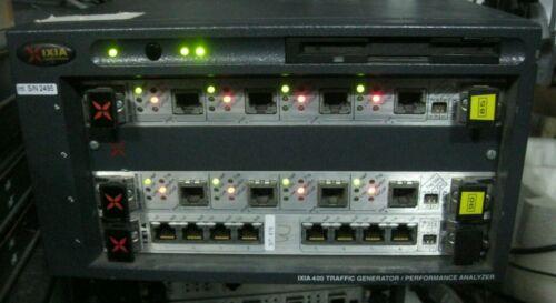 IXIA 400T Traffic Generator Performance Analyzer w/ LM100TXS8 2 x LM100TX