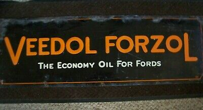 EXTREMELY RARE VEEDOL FORZOL TIN SIGN 41.75