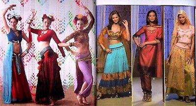 Sewing Pattern Adult/Misses' Dance Costumes Belly Can-Can Square You Choose