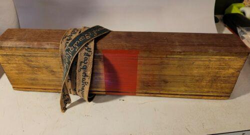 antique Buddhist Burmese Palm Leaf Prayer Manuscript Pali Script