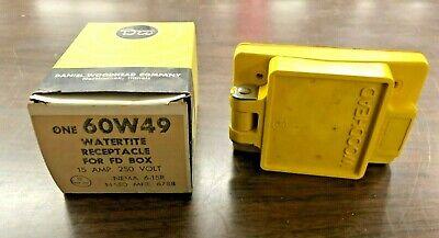 Woodhead 60w49 Watertite Receptacle For Fd Box 15 Amp 250 V