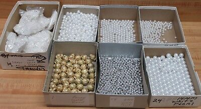 Lot #180 Loose Craft Beads 4mm to 14mm White Pearls Jewelry Making Beading 5 LBS