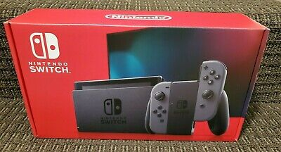 Brand New -  Nintendo - Switch 32GB Console - Gray Joy-Con